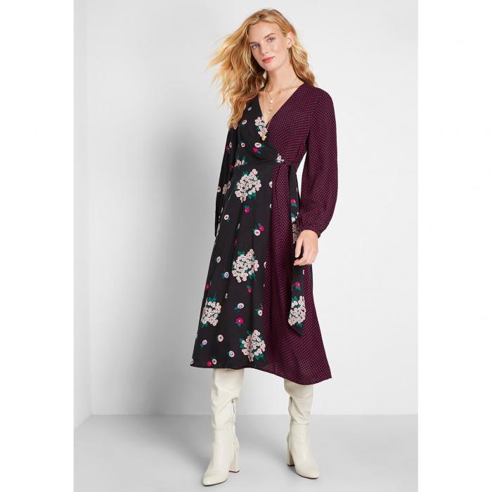 ファッションブランド カジュアル ファッション エミリーアンドフィン EMILY AND FIN ラップ 大好評です ドレス 紺色 信用 SIDES レディースファッション NOT MULTI DRESS WRAP NAVY ネイビー TAKING