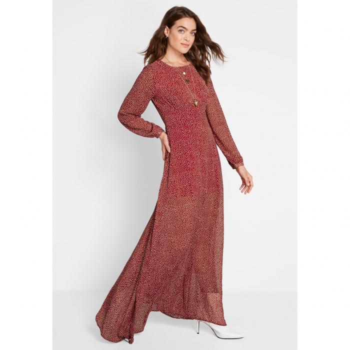 COLLECTIF ドレス レディースファッション 【 Romance Ready Polka Dot Maxi Dress 】 Red/white