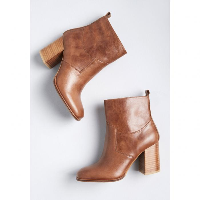 SBICCA レザー ブーツ 【 Spur Of The Moment Leather Ankle Boot 】 Brown