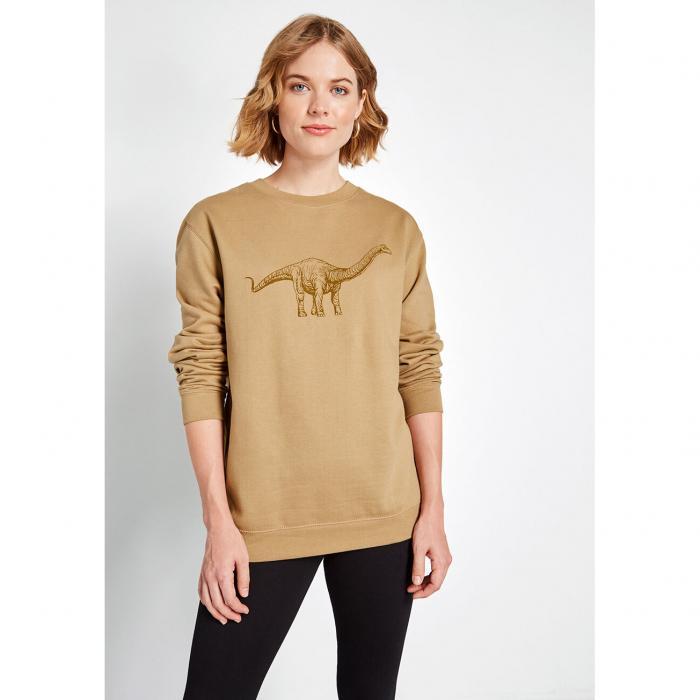 NO_BRAND_SHOWN 【 GONE PALEO DINOSAUR SWEATSHIRT TAN 】 レディースファッション トップス Tシャツ カットソー 送料無料