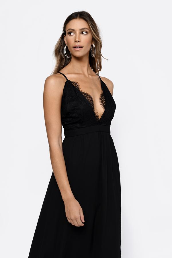 TOBI ドレス 黒 ブラックBLACK TOBI OPPOSITES ATTRACT LACE MAXI DRESSレディースファッション ドレスmO0wn8vN