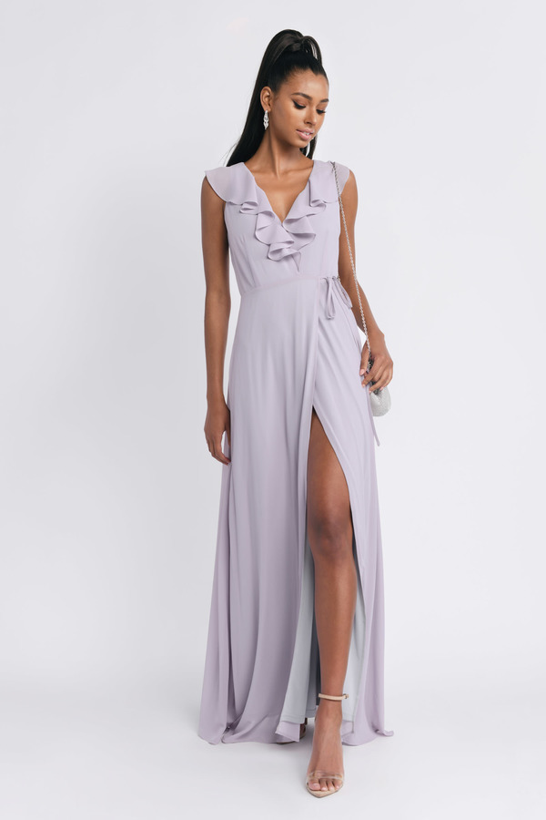 TOBI ドレス 【 TOBI TREASURE ME RUFFLE MAXI DRESS LILAC 】 レディースファッション ドレス