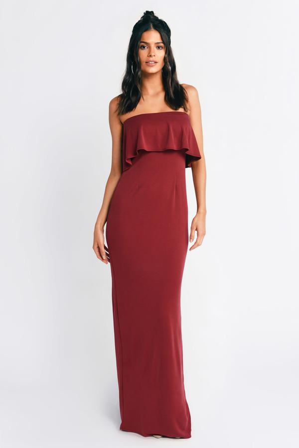 マキシドレス 黒色 トビ RED TOBI IN 【 】 赤 MILAN ドレス TOBI ブラック ドレス レッド レディースファッション BLACK