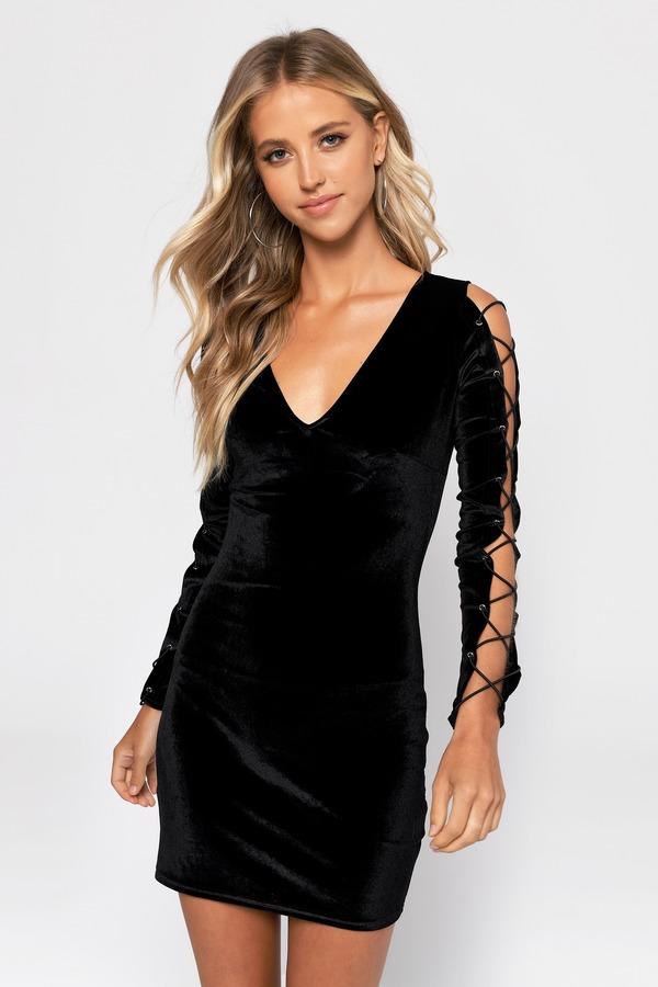 ファッションブランド カジュアル ファッション トビ TOBI ドレス 黒色 毎日がバーゲンセール ブラック LACE VELVET レディースファッション TO IN IT BLACK UP 割り引き DRESS