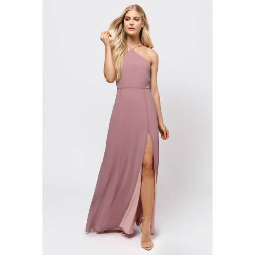 TOBI ライズ ドレス 【 TOBI RISE ABOVE LACE UP BACK MAXI DRESS MAUVE 】 レディースファッション ドレス