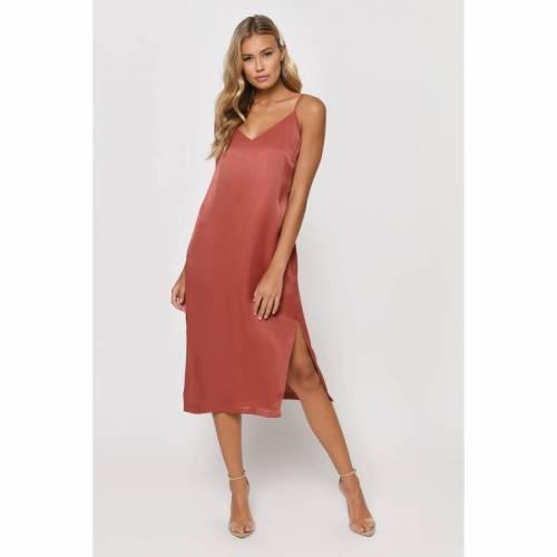 TOBI ドレス 【 TOBI DEANA MIDI DRESS TERRACOTTA 】 レディースファッション ドレス