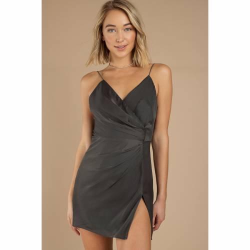 TOBI ラップ ドレス GRAY灰色 グレイ 【 WRAP GREY TOBI KRISH DRESS 】 レディースファッション ドレス