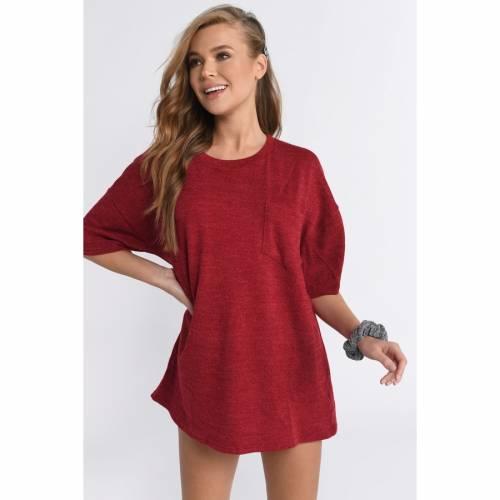 TOBI スリーブ Tシャツ ドレス 赤 レッド 【 SLEEVE RED TOBI KENDALL SHORT TSHIRT DRESS 】 レディースファッション ドレス