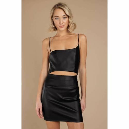 TOBI ドレス 黒 ブラック 【 BLACK TOBI ERIN ASYMMETRICAL BODYCON DRESS 】 レディースファッション ドレス