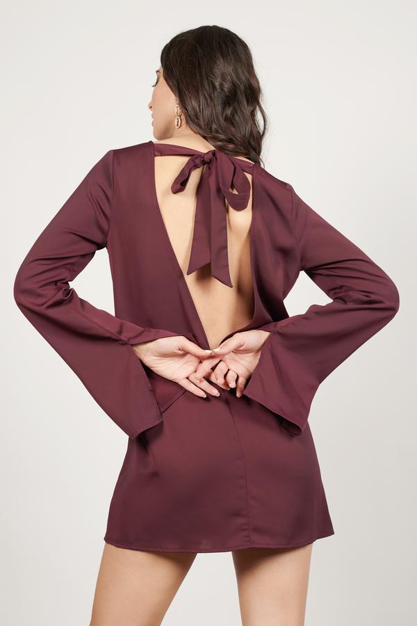TOBI ドレス 【 TOBI ELLIE SHIFT DRESS WINE 】 レディースファッション ドレス