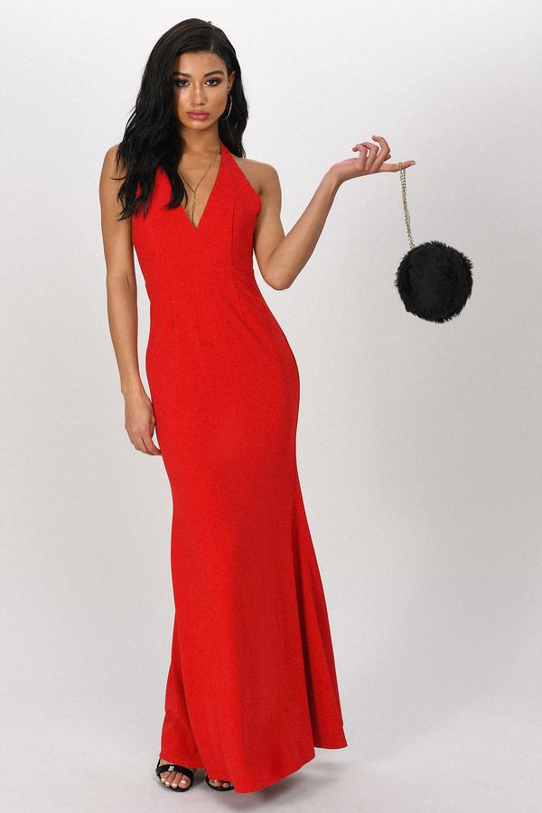 TOBI ドレス 赤 レッド 【 RED TOBI HAILEY HALTER MAXI DRESS 】 レディースファッション ドレス
