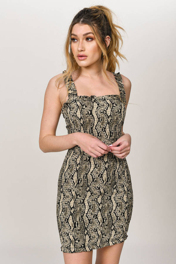 ファッションブランド カジュアル 正規品送料無料 ファッション トビ TOBI ドレス 茶色 新着セール ブラウン HISS IN DRESS RIBBED LIPS THE レディースファッション ON BROWN MULTI