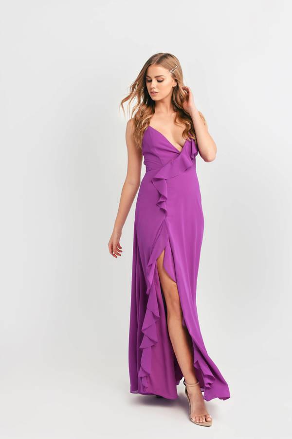 TOBI ドレス 【 TOBI LETTING LOOSE FOR TONIGHT MAXI DRESS MAGENTA 】 レディースファッション ドレス