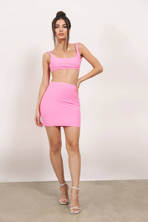 TOBI ピンク 【 PINK TOBI CHECK IT OUT BODYCON SET 】 レディースファッション