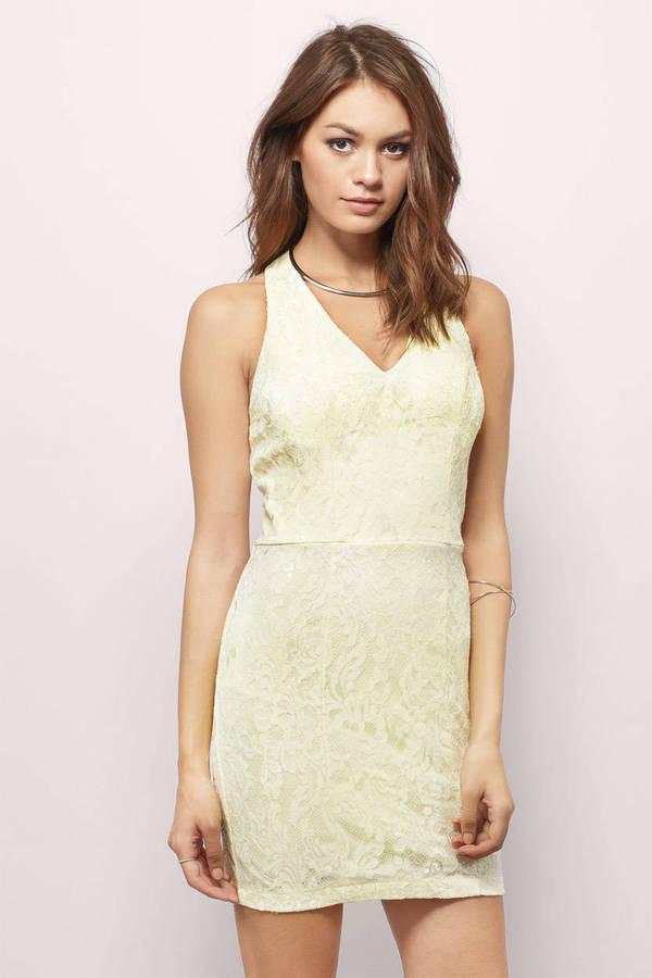 TOBI ドレス クリーム 【 TOBI SASSY LINES BODYCON DRESS CREAM 】 レディースファッション ドレス