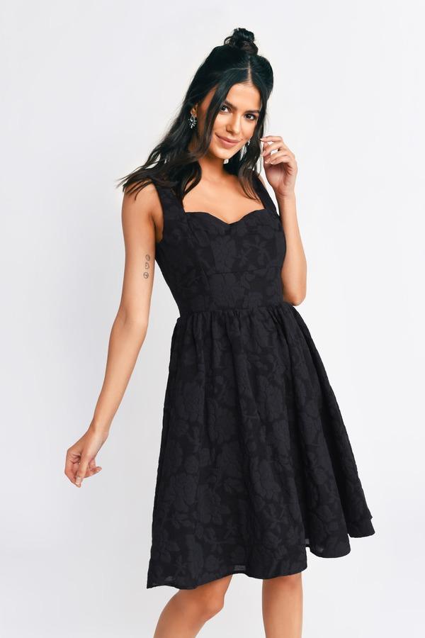 TOBI ドレス 黒 ブラック 【 BLACK TOBI MEADOW CUT OUT SKATER DRESS 】 レディースファッション ドレス