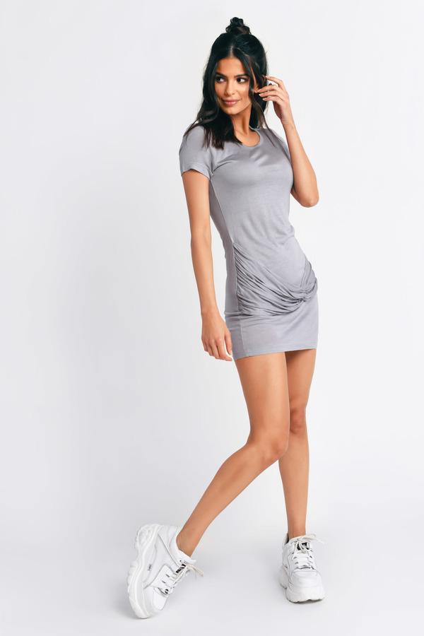ファッションブランド カジュアル ファッション TOBI 【 KNOT FOR YOU BODYCON DRESS GREY 】 レディースファッション ドレス 送料無料