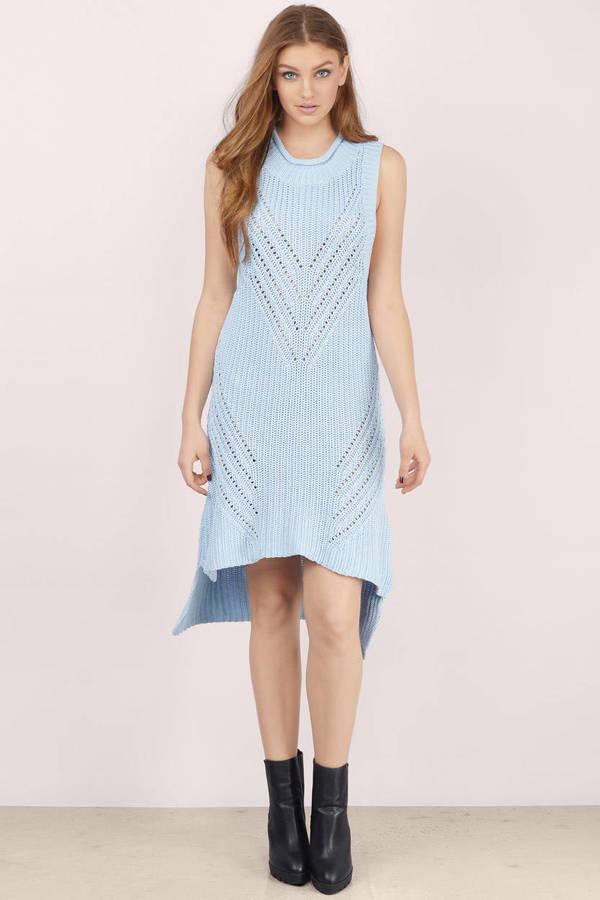 TOBI ニット ドレス 青 ブルー 【 BLUE TOBI OVERLOAD RIB KNIT DRESS ICE 】 レディースファッション ドレス