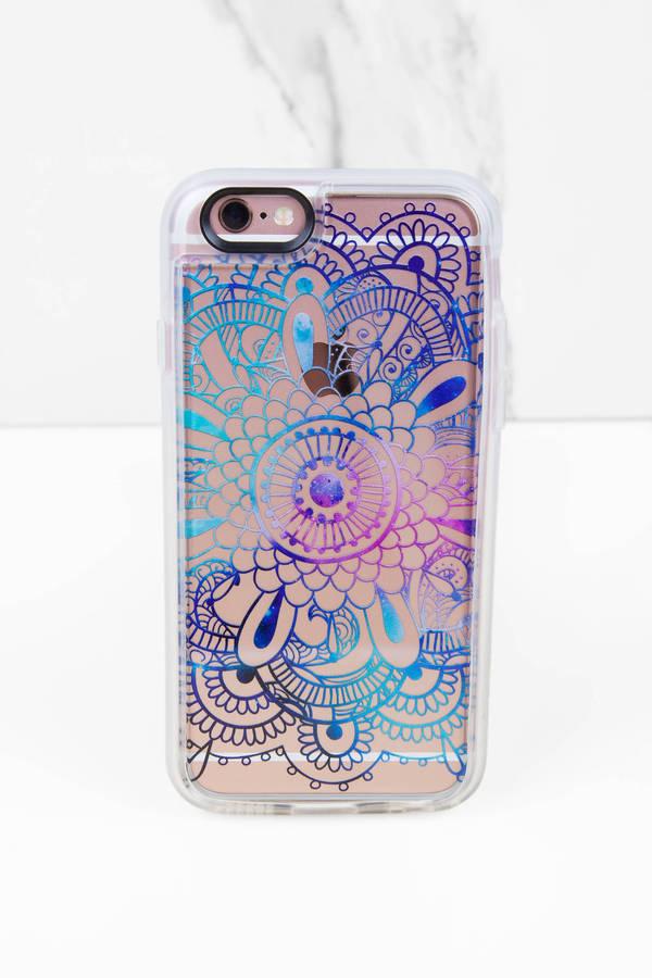 TOBI ケース スマートフォン タブレット 携帯電話 アクセサリー 【 Galaxy Iphone 6 Case 】 Blue Multi