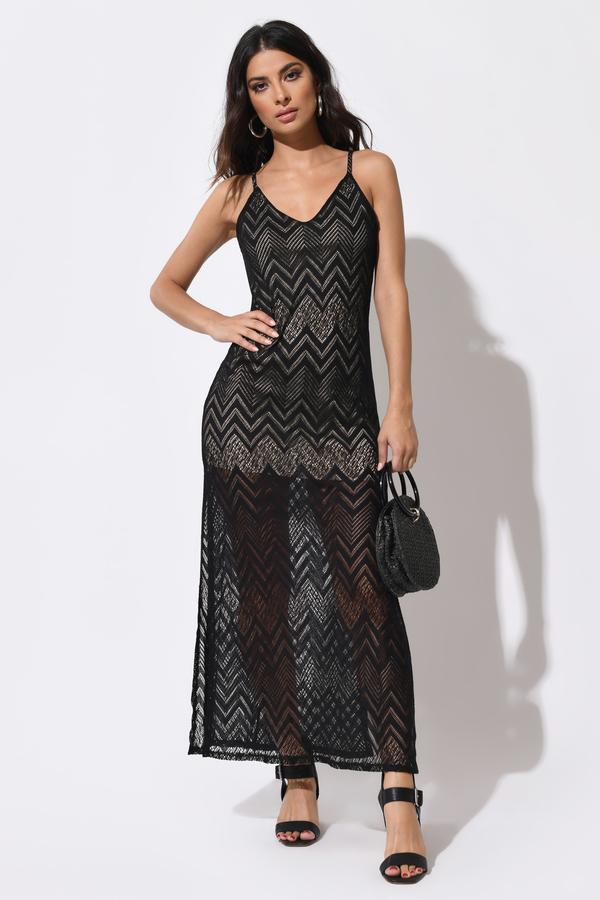 TOBI ドレス 黒 ブラック 【 BLACK TOBI REBECCA MAXI DRESS 】 レディースファッション ドレス