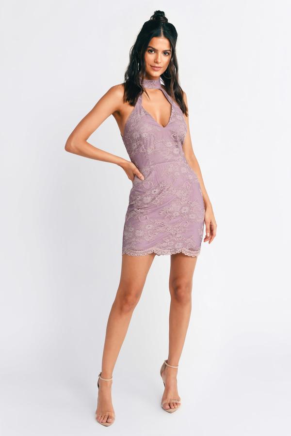 TOBI ドレス 【 TOBI LUCKY LADY LACE UP DRESS MAUVE 】 レディースファッション ドレス