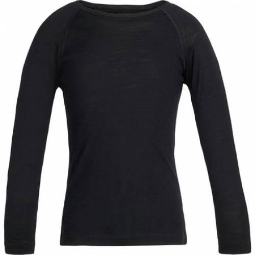 ファッションブランド カジュアル ファッション アイスブレーカー クルー 黒色 ブラック ジュニア 200 ICEBREAKER CREW BLACK 驚きの価格が実現 BODYFIT OASIS キッズ 引き出物