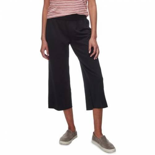 ファッションブランド カジュアル ファッション パンツ BASIN AND 大決算セール RANGE 黒色 PANT WIDE BLACK ボトムス レディースファッション アイテム勢ぞろい LEG CROPPED ブラック