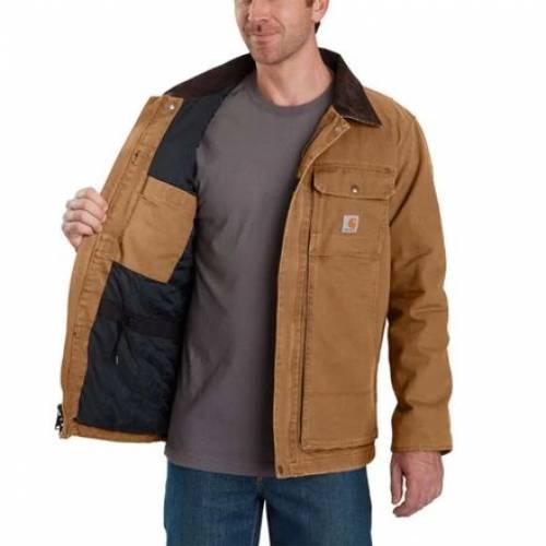 ファッションブランド カジュアル ファッション ジャケット 買い取り パーカー ベスト 新商品 カーハート CARHARTT スウィング 茶色 コート ブラウン SWING COAT TRADITIONAL メンズファッション BROWN ARMSTRONG FULL