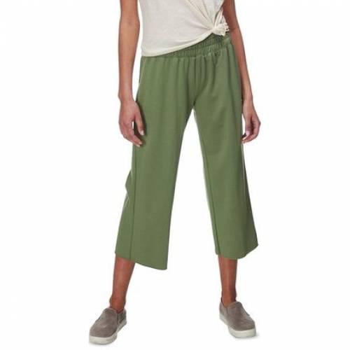 日本限定 ファッションブランド カジュアル ファッション パンツ 本物◆ BASIN AND RANGE 緑 グリーン LEG CROPPED WIDE GREEN レディースファッション PANT ボトムス PALM