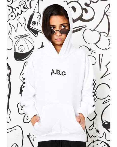 ABC KIDSWEAR フーディー パーカー キッズ ベビー マタニティ 【 Racing Hoody 】 White