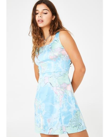 DELIA*S BY DOLLS KILL ドレス 青 ブルー DELIA*S 【 BLUE BY DOLLS KILL JET SETTER MINI DRESS 】 レディースファッション ドレス