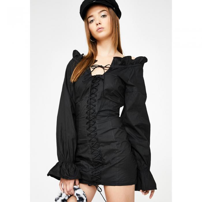 LIONESS 【 FOXY OFF THE SHOULDER DRESS BLACK 】 レディースファッション ドレス 送料無料