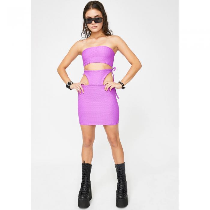 RICCETTI CLOTHING 紫 パープル 【 PURPLE RICCETTI CLOTHING GOT PURP SKIRT SET 】 レディースファッション