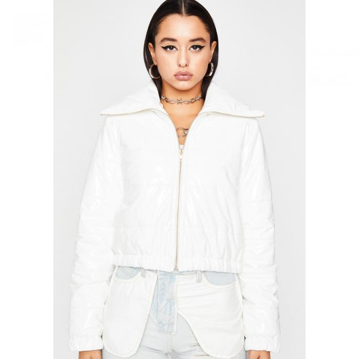 KAYLEE KOLLECTION 【 Whats Really Good Puffer Jacket 】 White