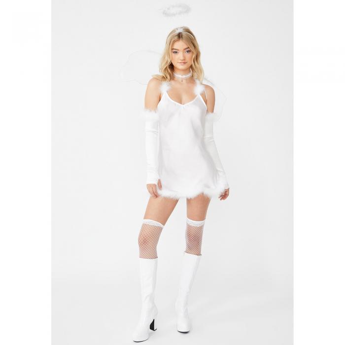 DOLLS KILL エンジェルス 白 ホワイト 【 ANGELS WHITE DOLLS KILL CALLING ALL COSTUME SET 】 レディースファッション