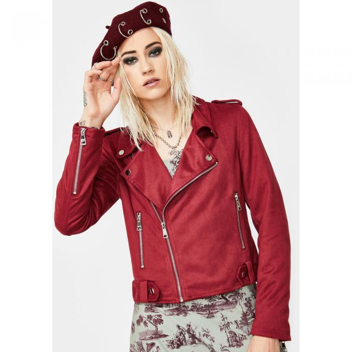 VIGOSS スエード スウェード 【 Faux Suede Moto Jacket 】 Red