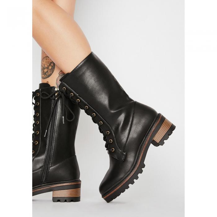 BAMBOO コンバット 【 Binding Spell Combat Boots 】 Black