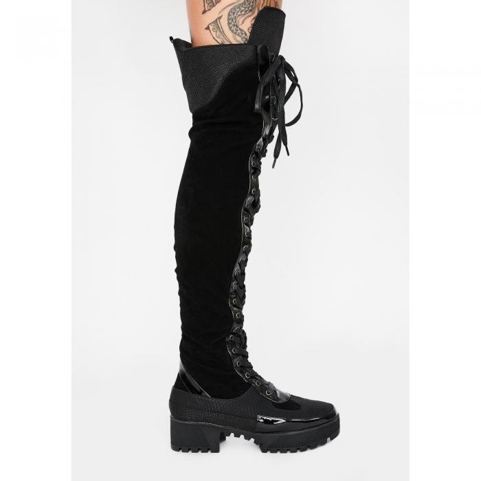 LEMONADE SHOES ナイト コンバット 【 Night Causin Mischief Combat Boots 】 Black