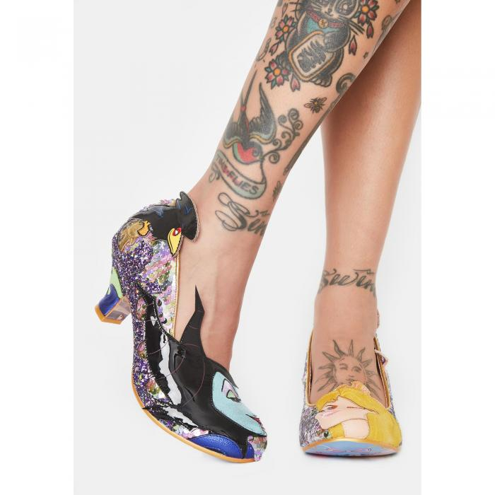 IRREGULAR CHOICE タッチ 【 TOUCH THE SPINDLE GLITTER HEELS GOLD 】 送料無料