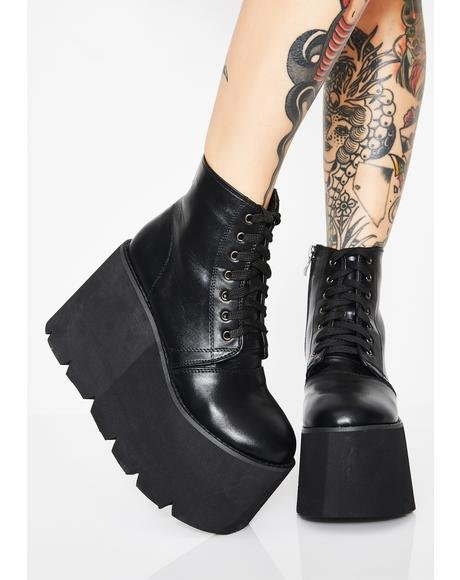 NYLA 【 WICKED COMET CRASH PLATFORM BOOTS BLACK 】 送料無料