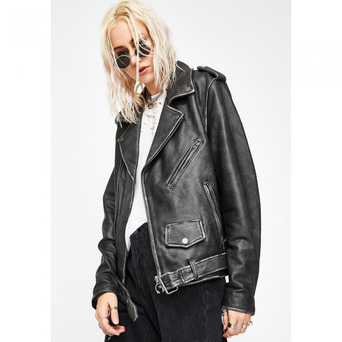 CURRENT MOOD レザー 【 Riot Riders Leather Moto Jacket 】 Black