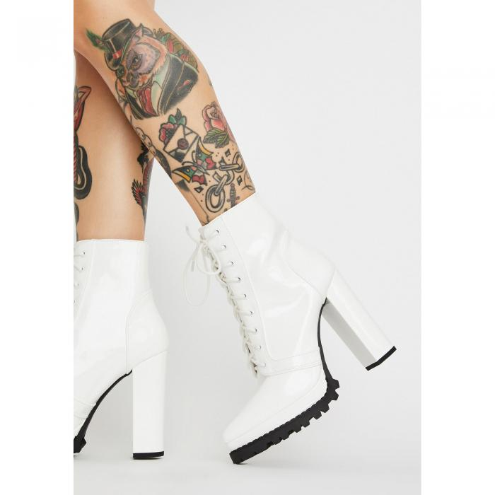 LILIANA 【 SOCIALITE CHIC ANKLE BOOTS WHITE 】 送料無料