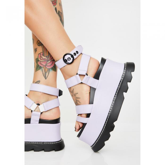 LAMODA 【 KEEP SMILING BB PLATFORM SANDALS PURPLE 】 送料無料