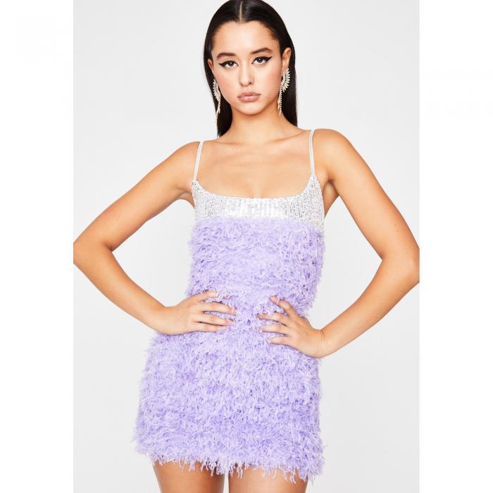 HOT DELICIOUS ドレス 紫 パープル 【 PURPLE HOT DELICIOUS DROP DEAD DIVA MINI DRESS 】 レディースファッション ドレス