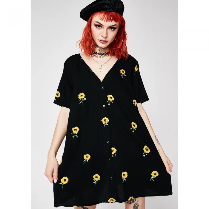 MOTEL ドレス 【 MOTEL DITSY SUNFLOWER CROSENA BABYDOLL DRESS MULTI 】 レディースファッション ドレス