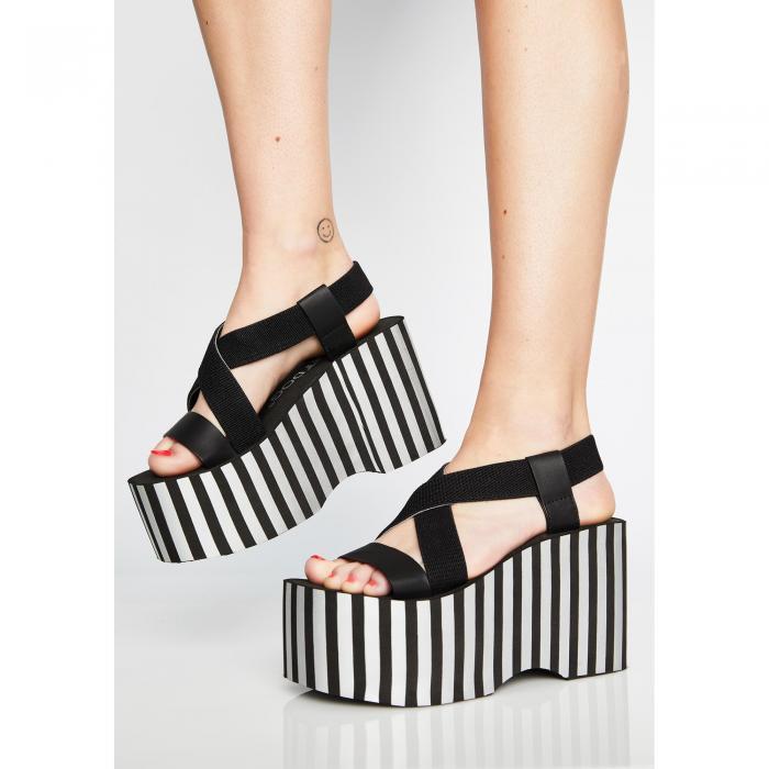 ROCKET DOG ストライプ 【 Stripe Bayer Platform Sandals 】 Multi