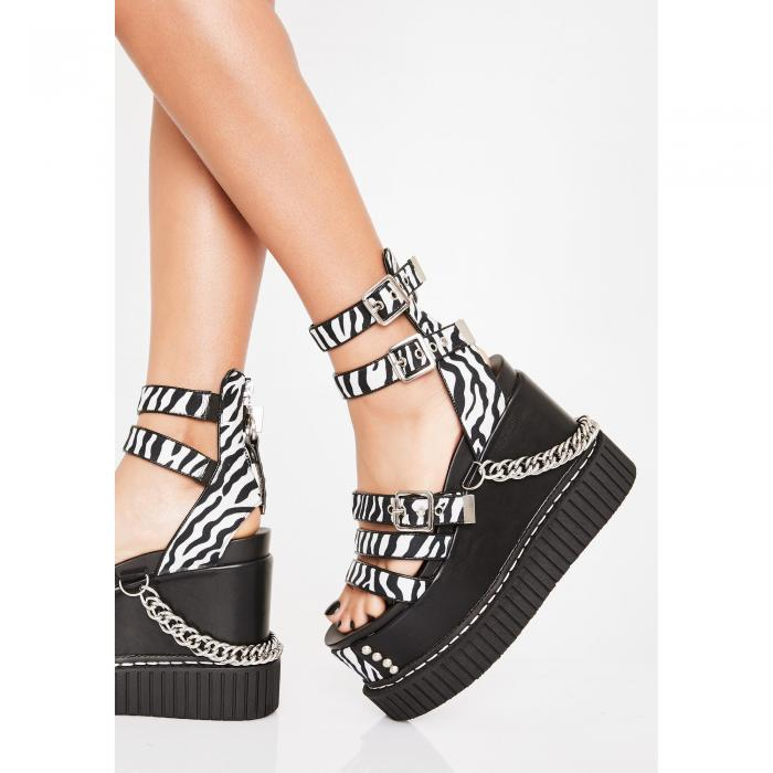 LAMODA 【 ZEBRA ZING CREEPER WEDGE SANDAL MULTI 】 送料無料