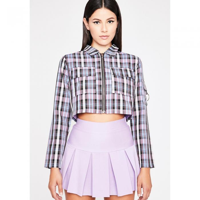 CLARA STORY 【 Lavender Word Of Mouth Plaid Jacket 】 Multi