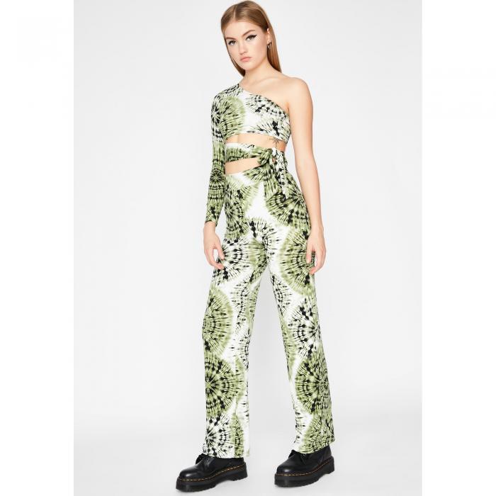 パンツ 【 OUTTA CONTROL TIE DYE PANT SET MULTI 】 レディースファッション
