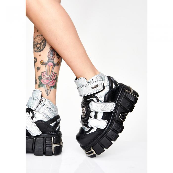 NEW ROCK X DOLLS KILL 【 Transform Ya Buckled Boots 】 Black